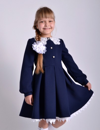 Школьное платье Милана синее