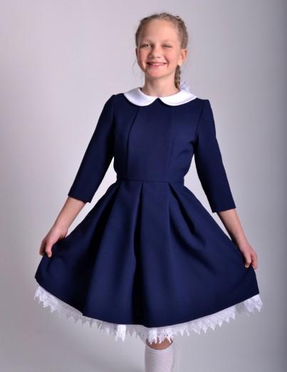 Школьное платье Анна синее