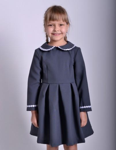 Школьное платье Анжелика серое