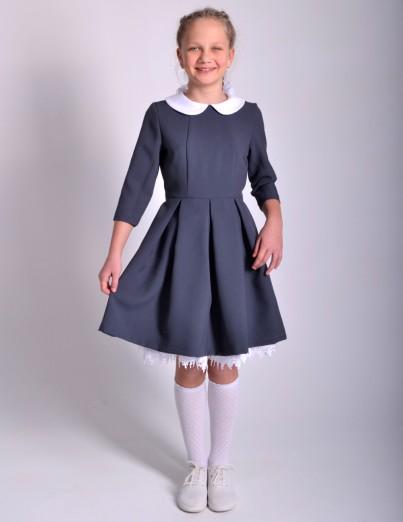 Школьное платье Анна серое