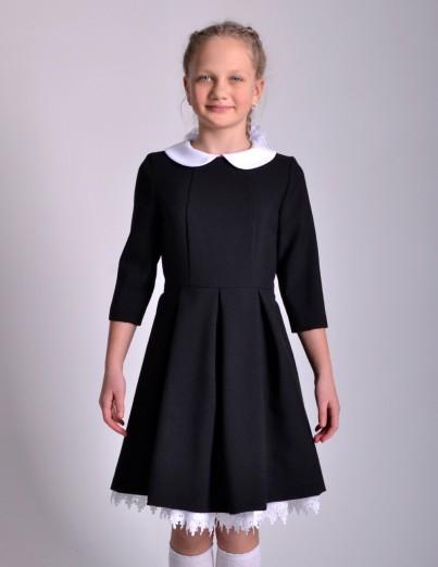 Школьное платье Анна черное