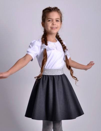 Школьная юбка Суфле серая...