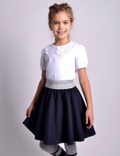 Школьная юбка Суфле синяя...