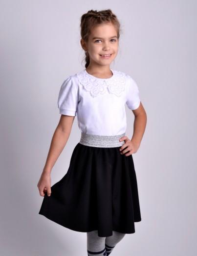Школьная юбка Суфле черная...