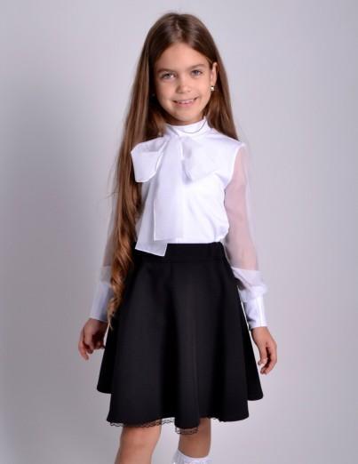 Школьная юбка Конфетти черная