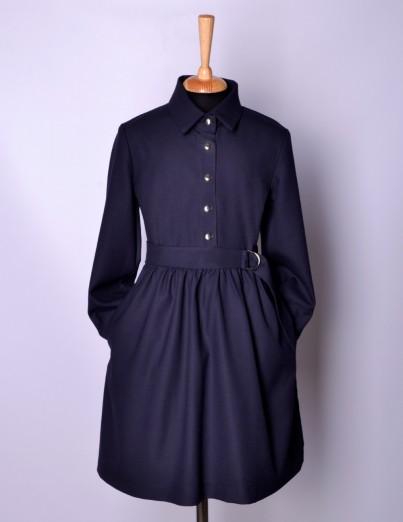 Школьное платье Виктория синее