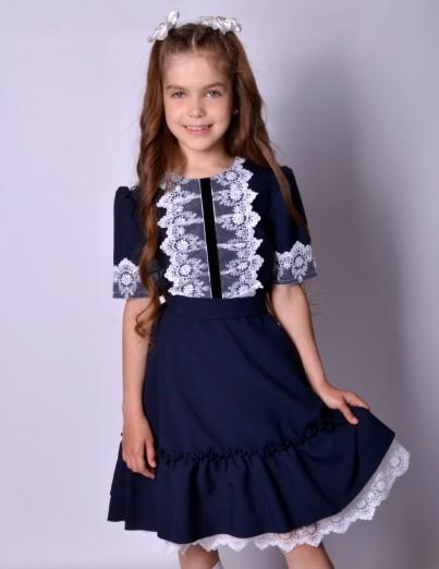 Школьное платье Софи синее