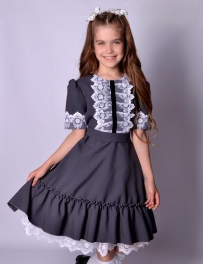 Школьное платье Софи серое